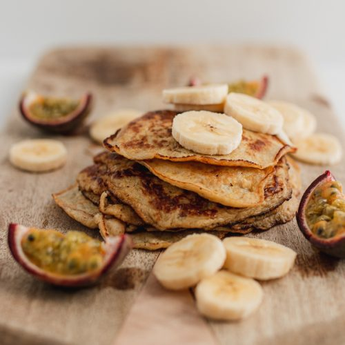 Egg and banana pancakes 2 ingredients