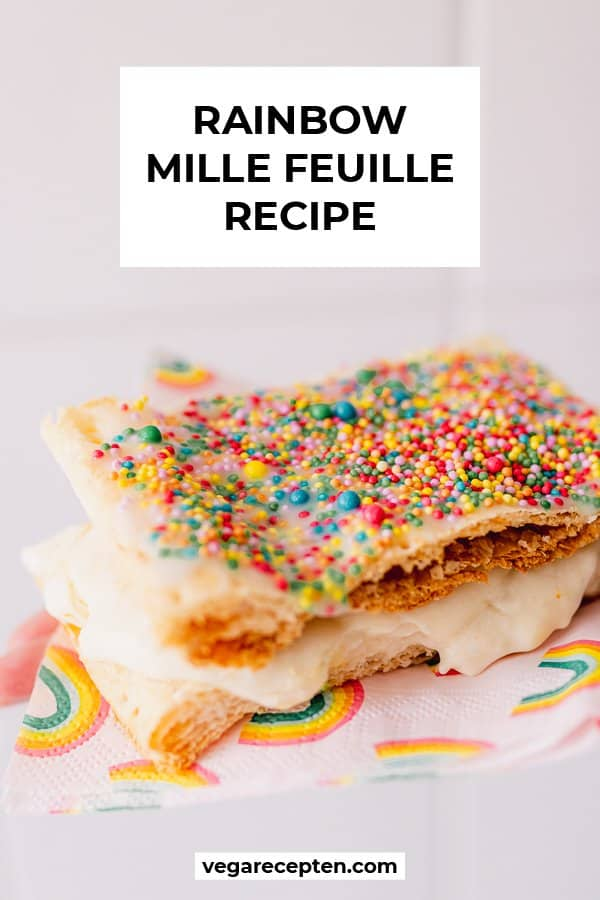 Rainbow mille feuille recipe