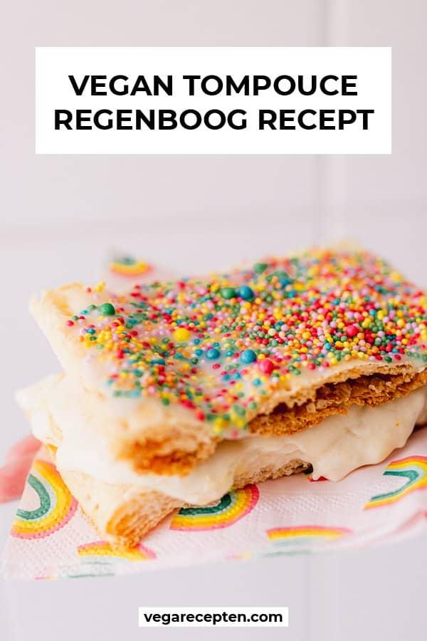 Vegan tompouce regenboog recept