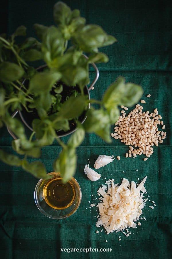 Zelf pesto maken ingredienten
