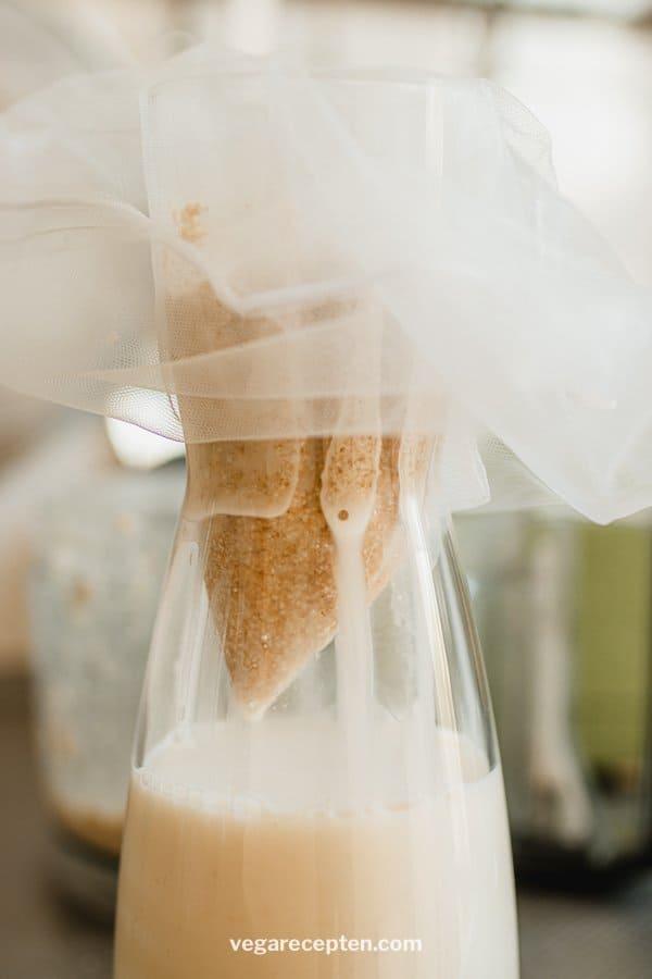 Havermelk maken met notenzak