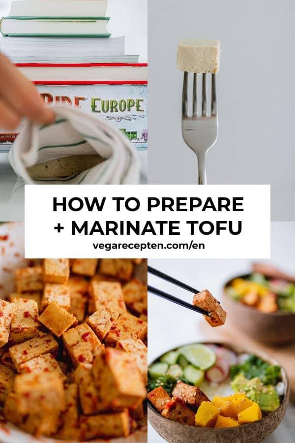 How to prepare + marinate tofu