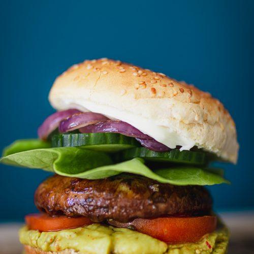 Portobello vegan burger