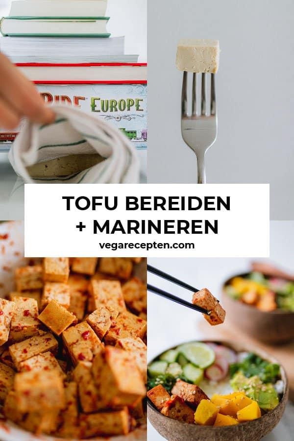 tofu bereiden en tofu marineren