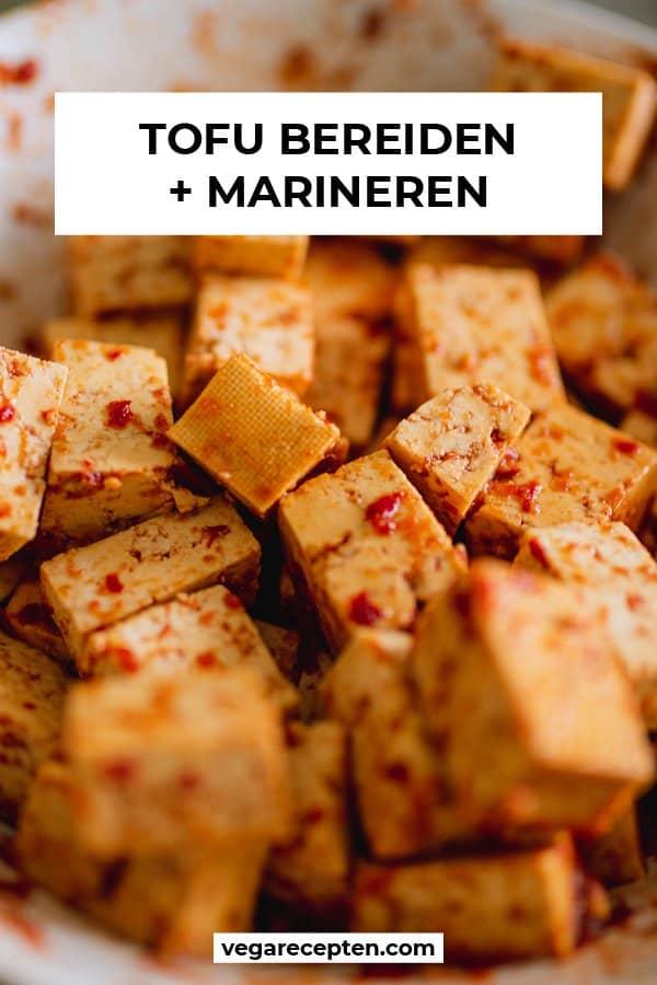 Tofu bereiden tofu marineren