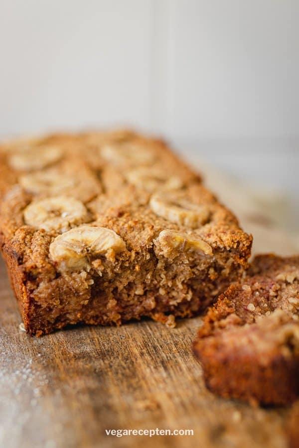Vegan bananenbrood zonder suiker