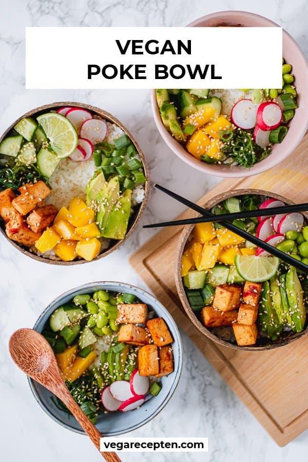 Vegan poke bowl pinterest