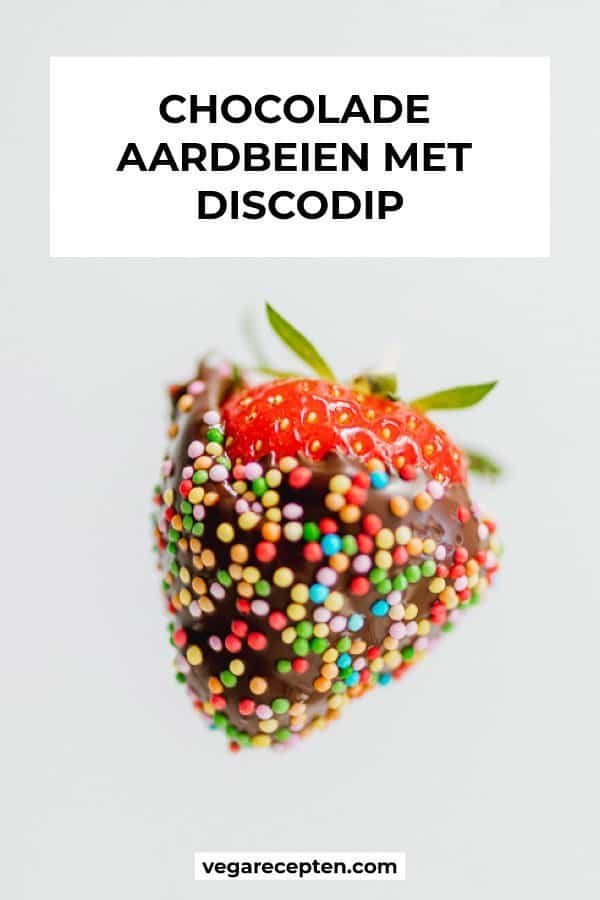 Chocolade aardbeien met discodip maken