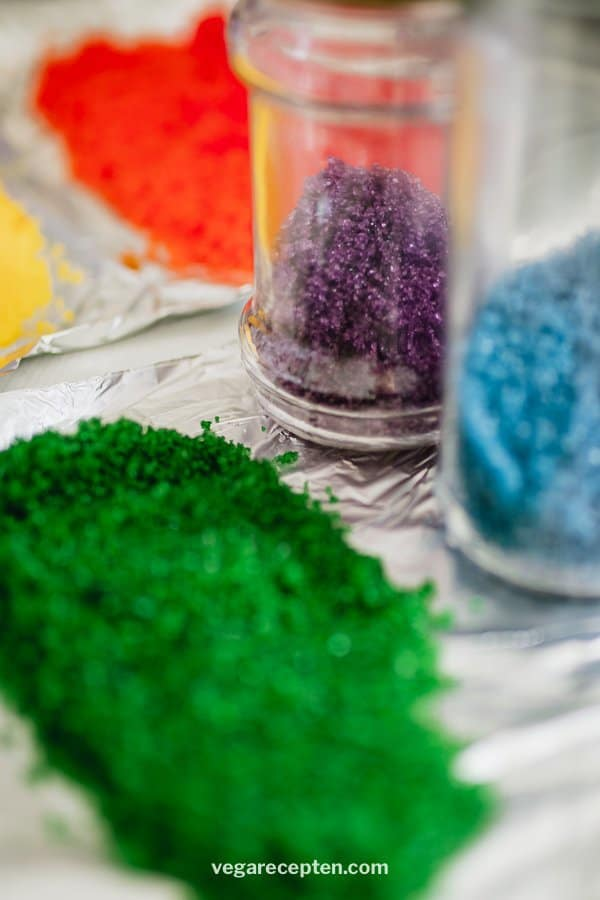 Make colored sugar