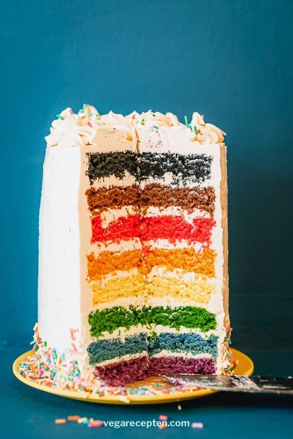 Make inclusive rainbow cake