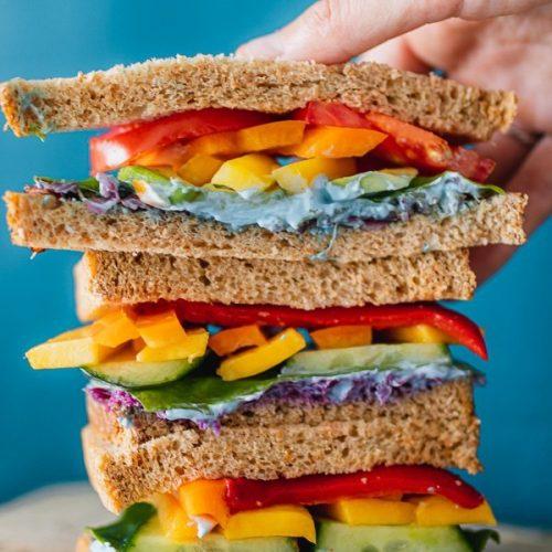 Rainbow Sandwich, the Best Vegan Sandwich