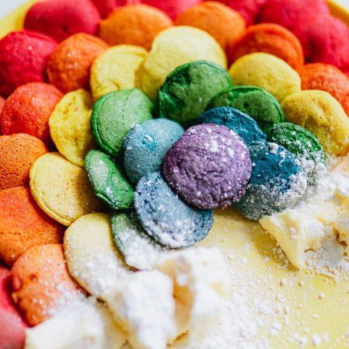 Rainbow pancake cereal recipe