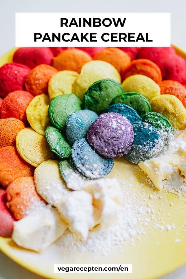 Rainbow pancake cereal