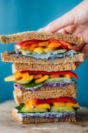 Regenboog broodje gezond recept