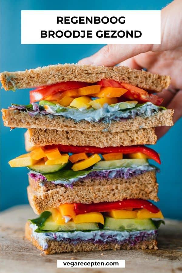 Regenboog broodje gezond