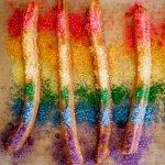 Regenboog churros maken