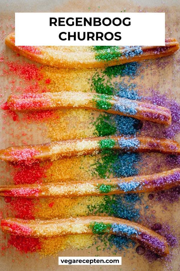 Regenboog churros