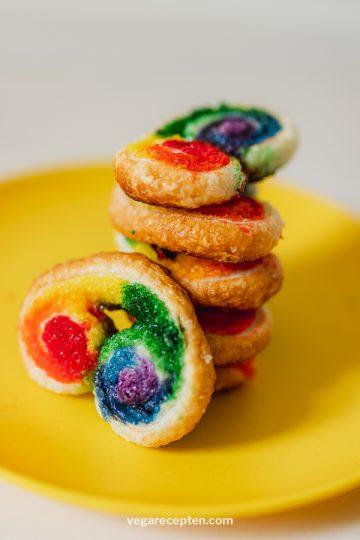 Regenboog koekjes bakken