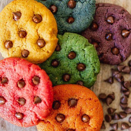 Regenboog recept chocolate chips cookies