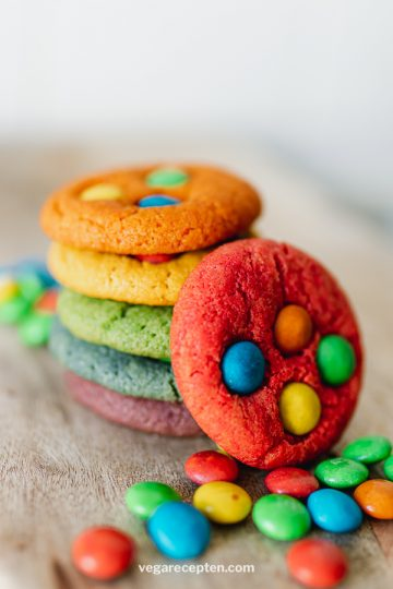 Regenboog recept chocolate chips cookies