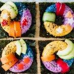 Regenboog sushi donut