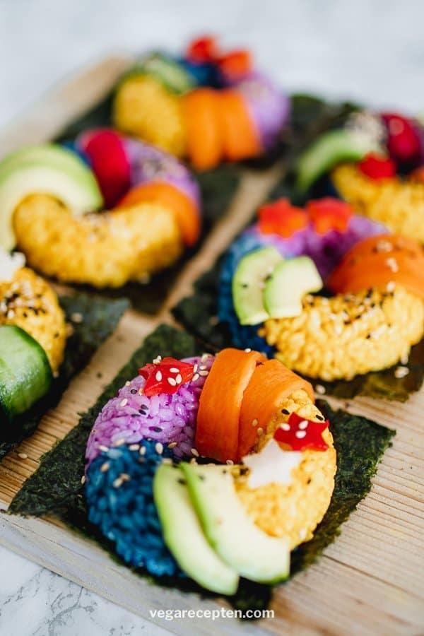 Regenboog sushi donut recept