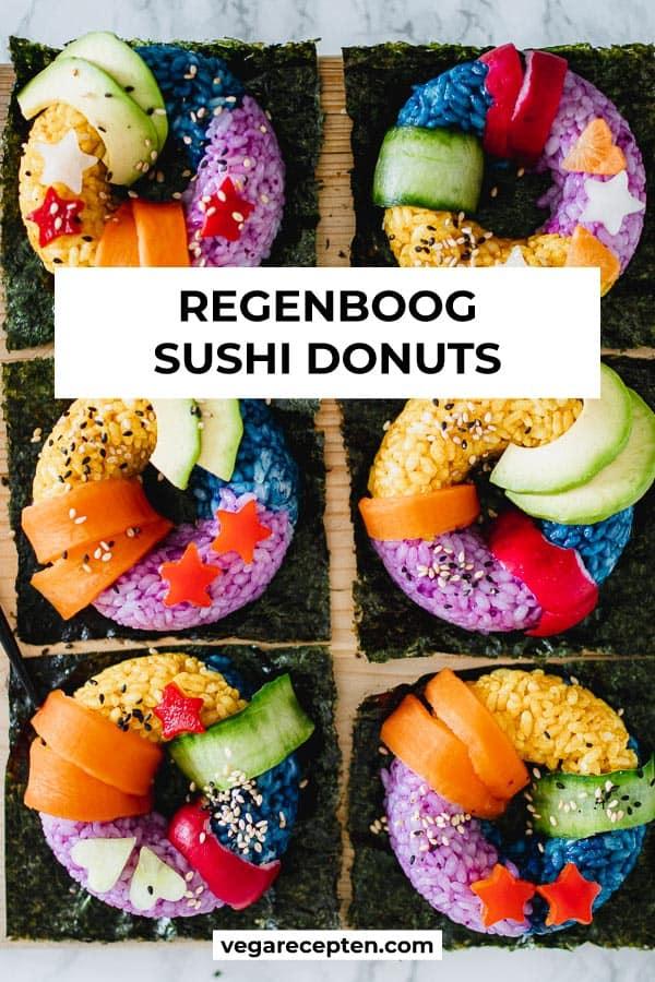 Regenboog sushi donuts