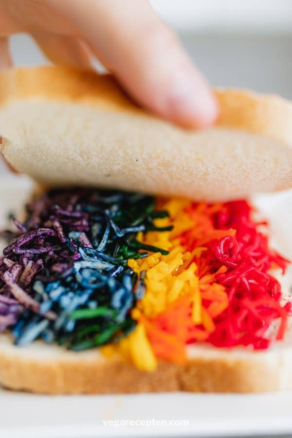 Rainbow sandwich cheese recipe
