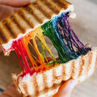 Rainbow sandwich recipe
