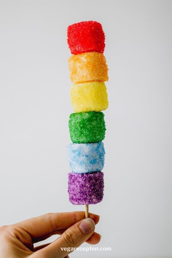 Rainbow vegan marshmallows treat