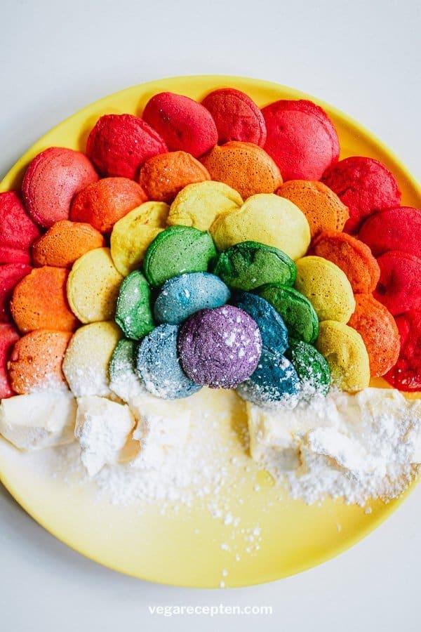 Vegan poffertjes rainbow