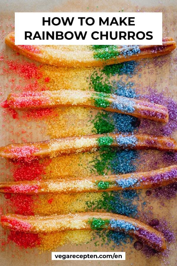 how to make rainbow churros