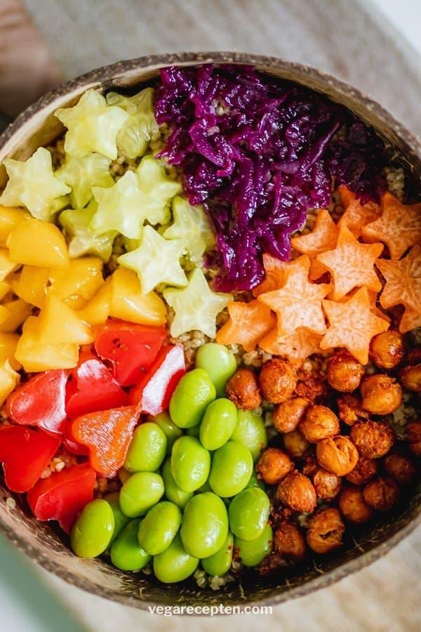 rainbow buddha bowl vegan recipe