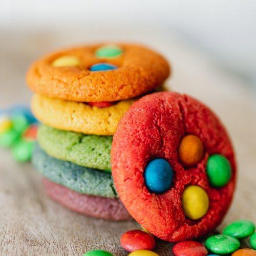 rainbow chocolate chip cookies recipe