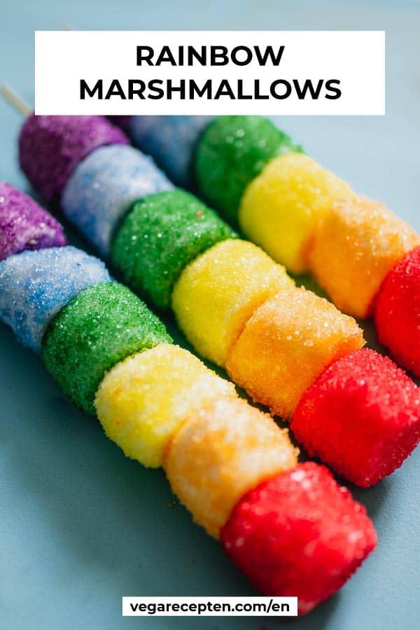Cute marshmallow treat rainbow treat