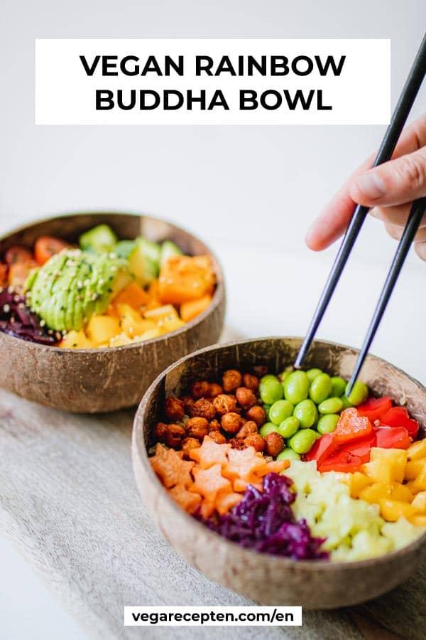 vegan rainbow buddha bowl