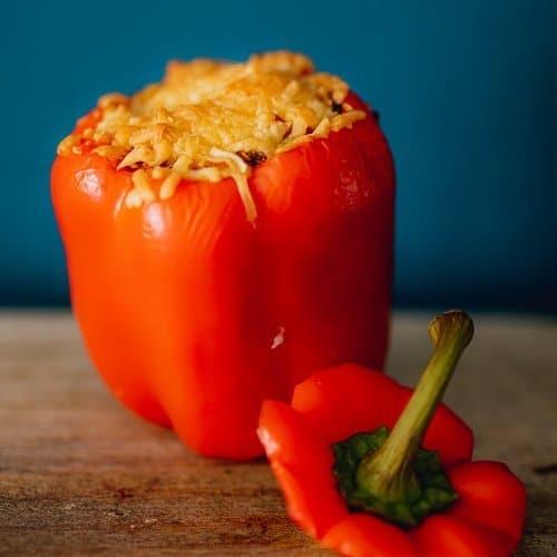 Recept gevulde paprika vegetarisch