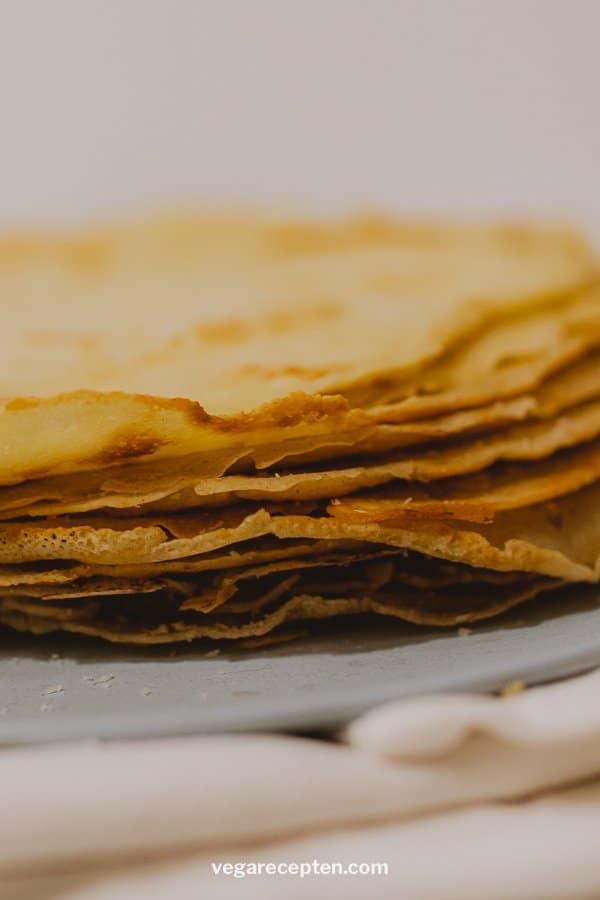 Stack of Dutch pancakes no egg