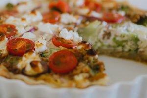 Broccoli goat cheese quiche vegetarian quiche recipe