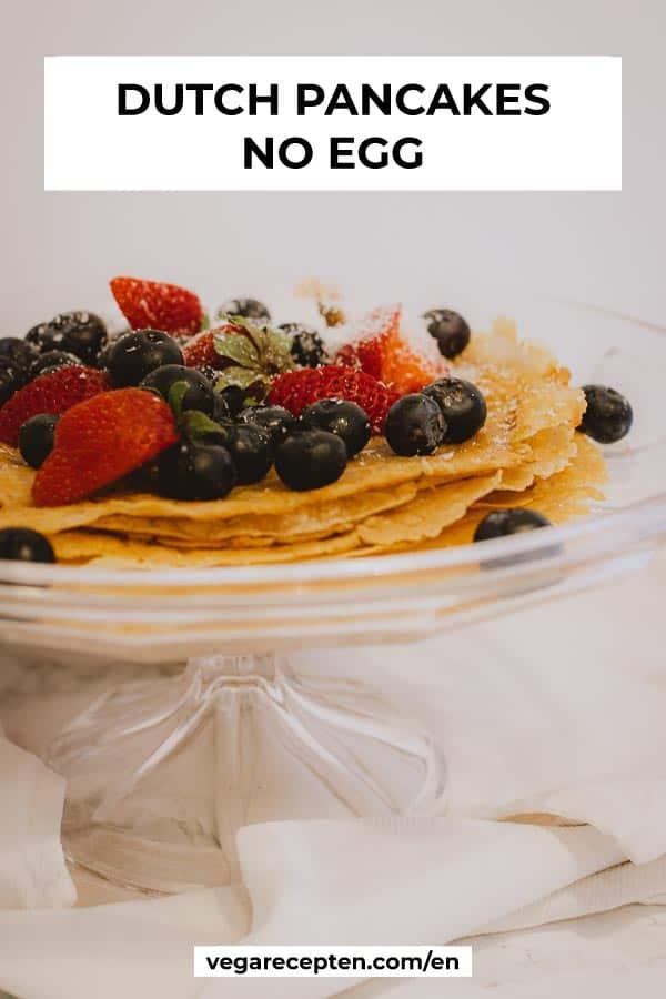 Dutch pancakes no egg