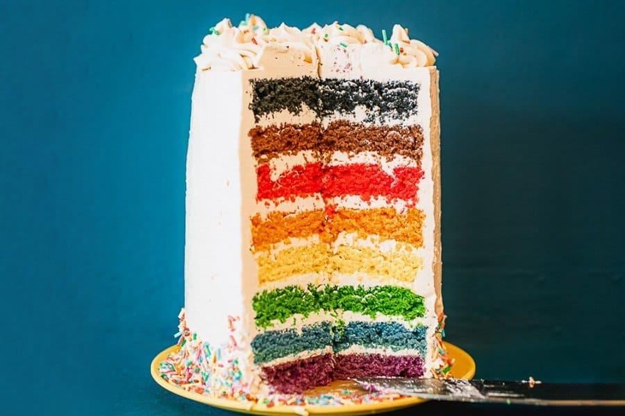 Regenboog taart recept