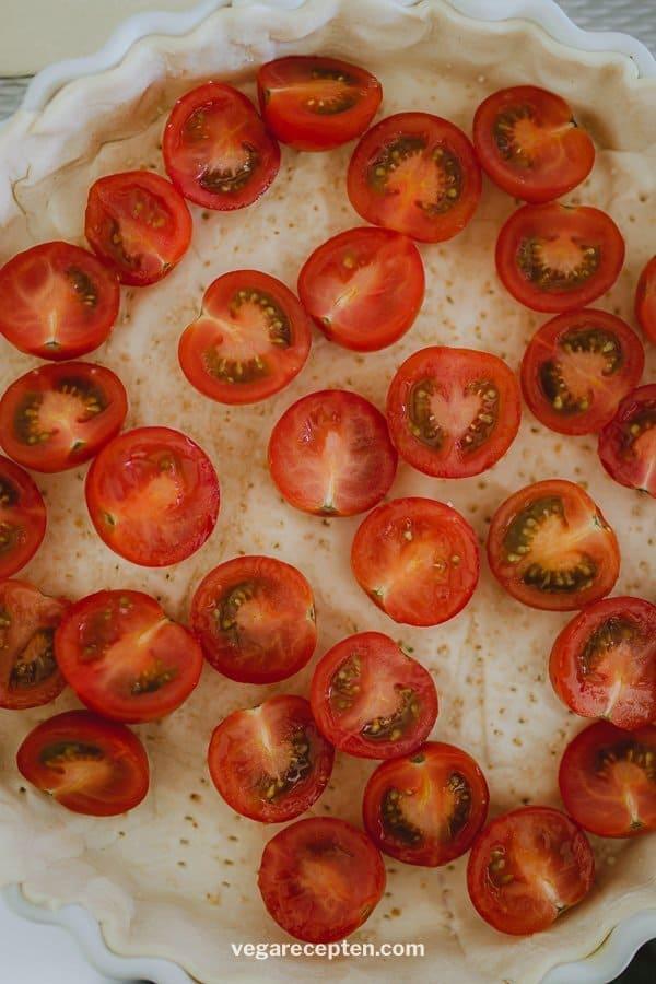 Vega quiche cherry tomaat