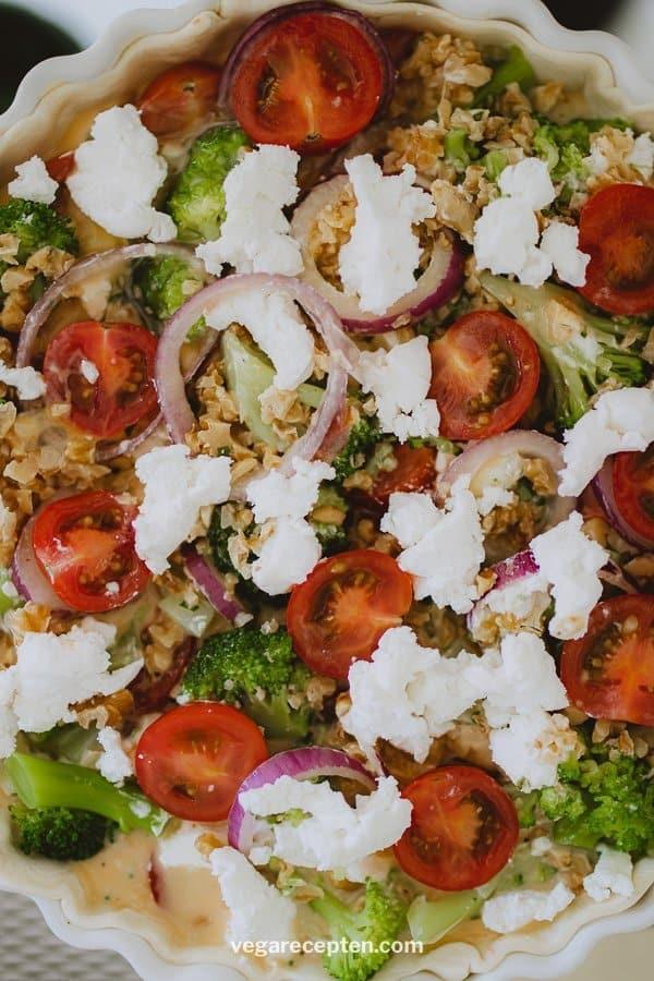 Vegetarische quiche broccoli