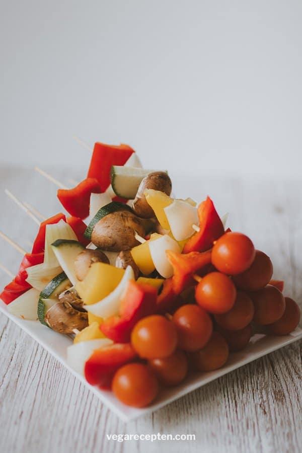 Groentespies vegetarische spiesjes groenten shaslicks
