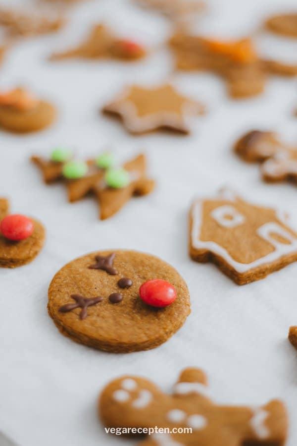 Christmas cookies decorate Rudolf Reindeer