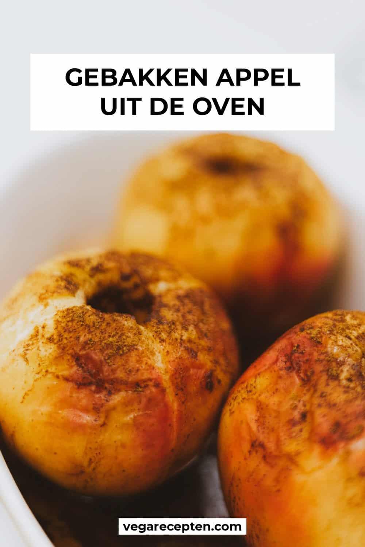 Gebakken appel uit de oven pin