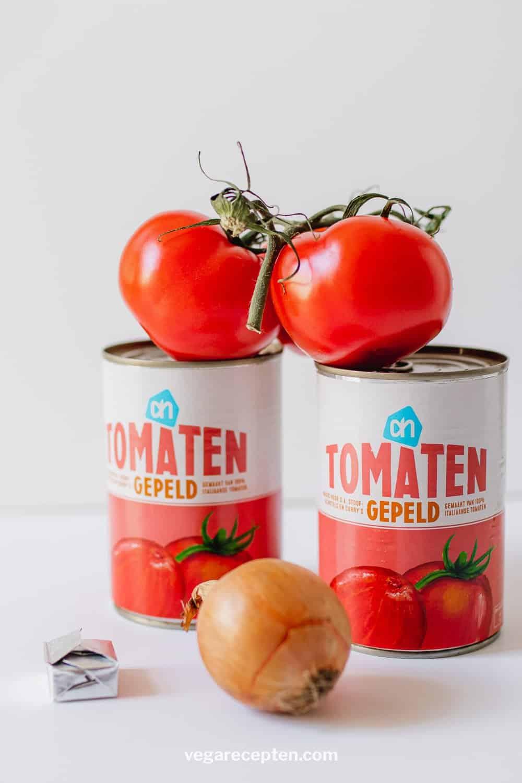 Ingredienten tomatensoep