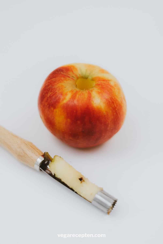 Klokhuis uit appel met appelboor