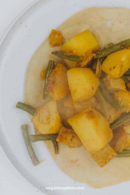 Vegetarische roti masala