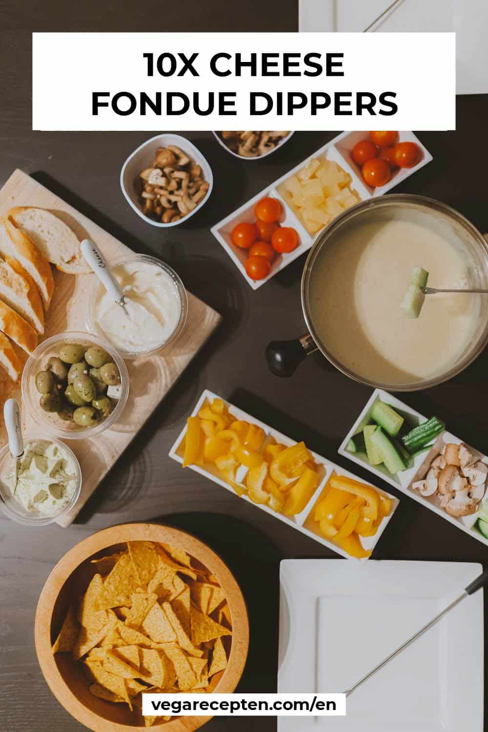Cheese fondue dippers